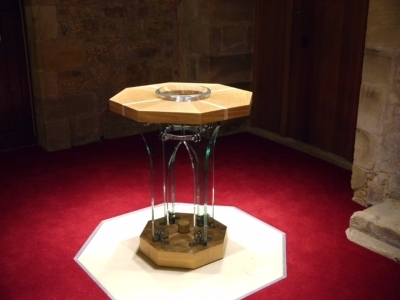 Spectacular glass font installed in Northumberland Church