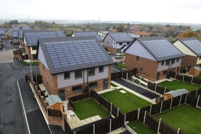 Romag roof PV technology at UK's largest zero carbon housing scheme