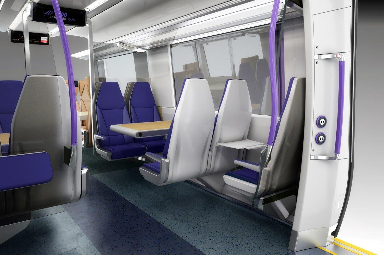 Rail Glass - Internal Train Compartment