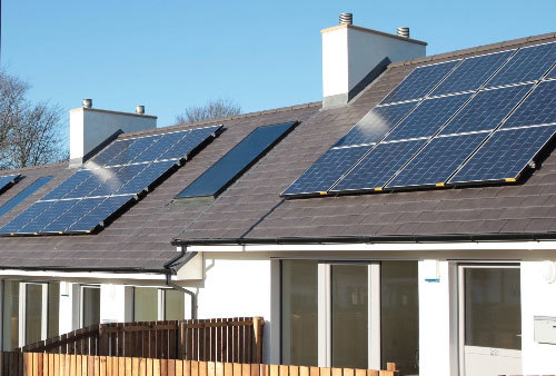 Solar Panel Kits - Housing Estate Close Up
