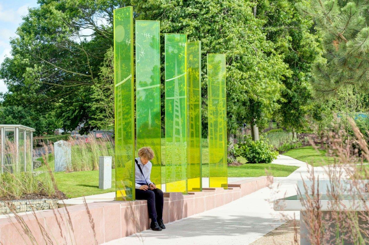 Tinted Glass - Outdoor Art